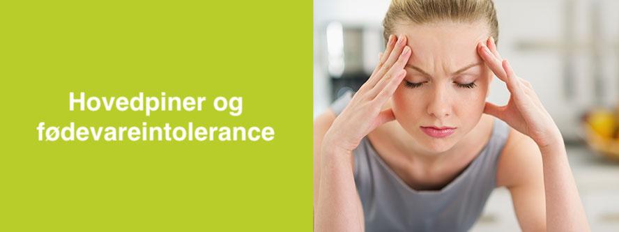 Hovedpine og fødevareintolerance